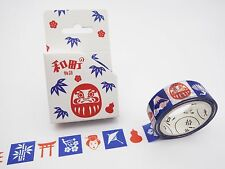 Japanese washi tape! Daruma dolls, geisha, Mt. Fuji, cherry blossoms plum flower