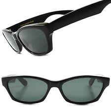 True Vintage Deadstock Old School Urban Black Mens Rectangle Hipster Sunglasses