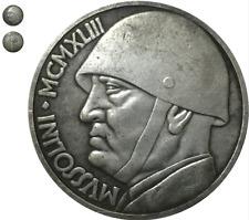 Moneta collezione 20 Lire Italia 1943 Fascismo Mussolini replica LEONE littorio