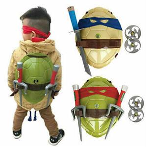 2021 Kids Boys Teenage Mutant Ninja Turtles Party Costume Back Shell Mask Toys