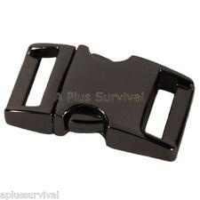 "Gun Metal Color - 5/8"" Metal - Curved Top Buckle for Paracord Survival Bracelets"