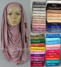 Premium Cotton Jersey Maxi Hijab Scarf Shawl Wrap Islam Muslim 180X80cm