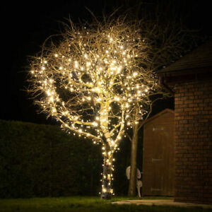Lights4You Outdoor String Lights, 120 LED Bulbs in Warm White, 66ft (20m)