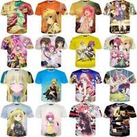 Women/Men To Love-Ru Girl Anime 3D Print Casual T-Shirt Short Sleeve Top Tee