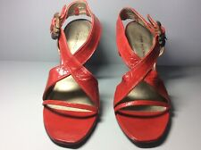 Women's red patent leather CoSTUME National shoes size 38