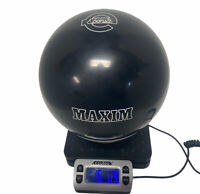 VINTAGE NEW Ebonite Maxim Black 16 Pound Bowling Ball NON-DRILLED NEW OLD STOCK