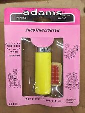 Vintage ADAMS SHOOTING LIGHTER Exploding Lighter PRANKS, Gags Nos MOC