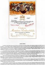 PAUILLAC 1E GCC LITHOGRAPHIE CHATEAU MOUTON ROTHSCHILD 1987 §06/03/17§