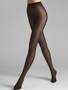 Wolford NWT Black/Brown Velvet De Luxe 50 Tights Size S