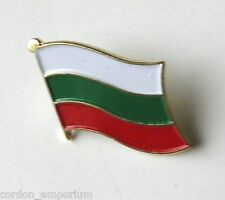 BULGARIA BULGARIAN NATIONAL COUNTRY WORLD SINGLE FLAG LAPEL PIN BADGE 1 INCH