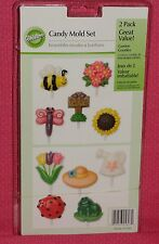Garden,Spring Chocolate Lollipop Candy Molds,Wilton,Clear Plastic,2115-1607,2pk