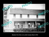 OLD LARGE HISTORIC PHOTO OF HEMLOCK NEW YORK VIEW OF THE SCANLON HOTEL c1910