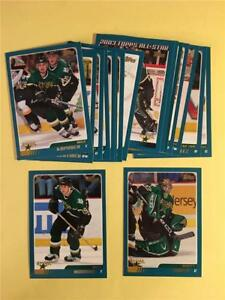 2003/04 Topps Dallas Stars Team Set With Traded 17 Cards