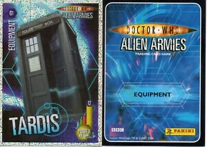 Doctor Who Alien Armies G1- G40 Glitter Foil Cards Collection
