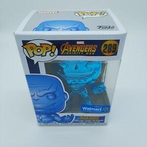 "Funko Pop! Avengers #289 Thanos Chrome Blue 5"" Action Figure Walmart Exclusive"