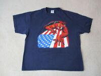 VINTAGE Spiderman Shirt Adult Extra Large Blue Red Comic Book Super Hero Men 90s