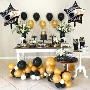 Graduation Party Decorations Cap Candy Gift Box Tableware Balloon Gown Grad Prop