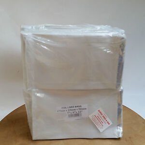 """Foil Lined Hot Food Bags - 7""""x9""""x12"""" Suitable For Chicken Naan Bread Ribs (500)"""