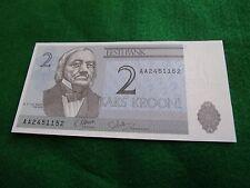 ESTONIA ESTONIA Ticket 2 KROONI UNC NEW