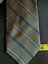 Brooks Brothers Gray With White and Blue  Stripes Tie