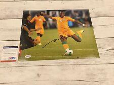 Didier Drogba Signed Ivory Coast 11x14 Photo PSA DNA COA Chelsea Autographed a