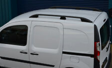 Black Aluminium Roof Rack Rails Side Bars Set To Fit LWB Renault Kangoo (2008+)