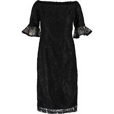 New NANETTE LEPORE Premium Womens Black Lace Sheath Dress UK 8 BNWT