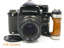 PENTAX 6 X 7 MLU CAMERA WITH TAKUMAR SMC 90MM F2.8 LENS AND HAND GRIP