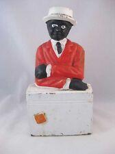 Black Americana Folk Art Cast Iron Bank~Door Stop