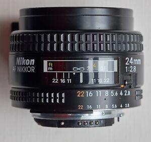 Nikon 24mm f2.8 AF Nikon lens, very good condition