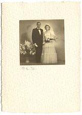 Couple mariés mariage homme femme - photo ancienne an. 1930