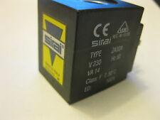 Sirai solenoid coil 230 Vac 14Va type Za30A or Za10Ah8 or Za34A seat ø 14mm