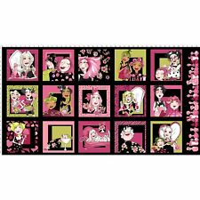 Loralie Love Your Look Salon Panel Black Fabric 24x44 Loralie Designs