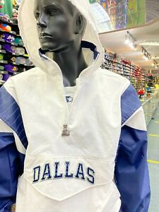 Dallas Cowboys Mens Starter THROWBACK BREAKAWAY Half- Zip Pull-Over NFL Jacket