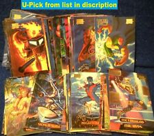 1994 FLEER MARVEL Masterpieces GOLD FOIL SIGNATURE Series Cards (U-Pick-1)