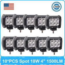 "10X 4""inch 18W LED Work Light Spot Beam 6000K Toyota Bumper Cube Off road Ranger"
