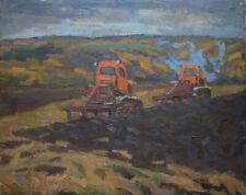 Antique  Russian    USSR oil canvas on Chaloi Leonty   `25