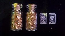 #8. 2 1gram silver bar and 2 of  my glass jars of 24kt  gold leaf flake! ! $! $