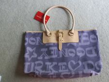 Dooney & Bourke large shoulderl tote - Purple logo fabric
