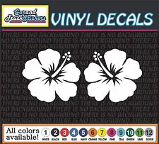 2 for $3.00 Hawaiian Hibiscus Flower Vinyl Car Decal Window Sticker Truck. wall