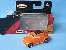 Matchbox 1962 Volkswagon VW Beetle Orange Body Toy Model Car Boxed 70mm Long