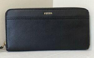 NWT Fossil Teagan Clutch wallet Medium Black