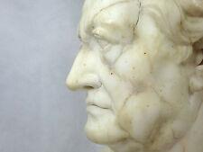 Große schwere Büste Goethe weißer Marmor 19 Jh.