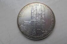 LARGE Silver Medal 58mm ELIZABETH II 25th Anniversary WESTMINSTER ABBEY TRUST