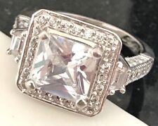 KIRKS FOLLY Design Ring Cubic Zirconia Solitaire Wedding Engagement Vacation 7P