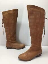 Naughty Monkey Brown Suede Knee High Boots Women's 7.5 M