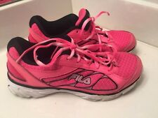 FILA Womens Breast Cancer HOT PINK Running Walking Train Athletic Shoes Sz 5 ~