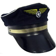 Adult Airline Pilot Aviation Captain Hat Costume Dress Gc182