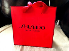 """Ginza Tokyo Shiseido Gift Thick Paper Bag Red SMALL 7 7/8 x 7 7/8"""" Japan NEW"""