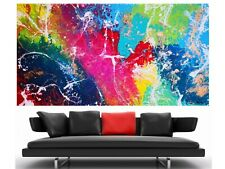 WEISE XXL Acrylbild ART Gemälde Abstrakt Modern 169 x 91 cm Leinwand 63/20 NEU